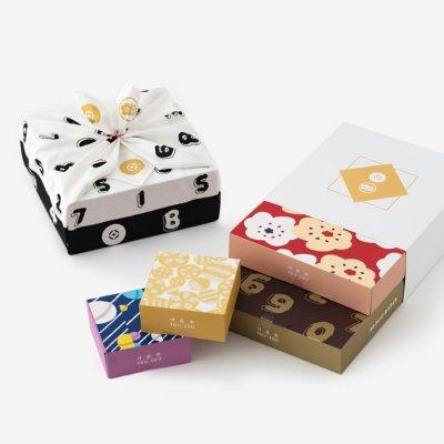 伊藤軒×SOU・SOU/SO-SU-U チョコがけカステイラ 小風呂敷包み