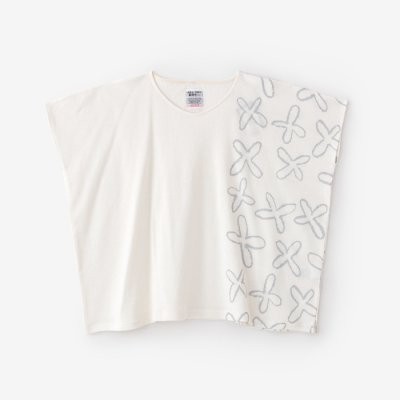 綿麻裏毛 四角衣/すずしろと余白 乳白色(にゅうはくしょく)