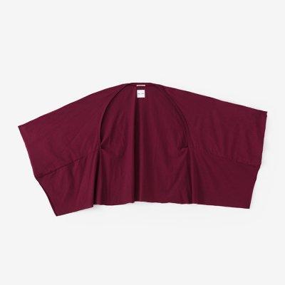 綿モダール むささび 短丈/柘榴色(ざくろいろ)
