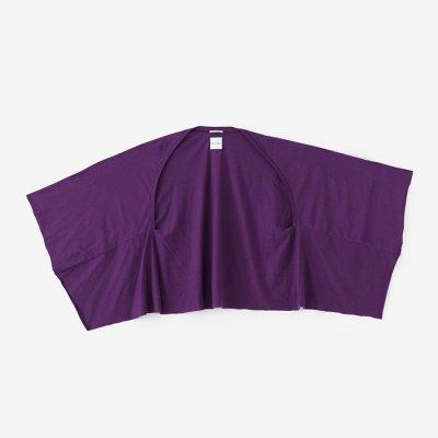 綿モダール むささび 短丈/濃紫(こきむらさき)