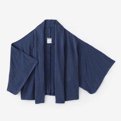 麻 小袖莢 短丈(あさ こそでさや みじかたけ)/紺鼠(こんねず)