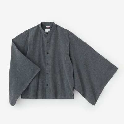 綿麻 高島縮 草衣 上(そうい うえ)/鈍色(にびいろ)