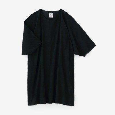 綿麻 高島縮 薙刀長方形衣/濡羽色(ぬればいろ)