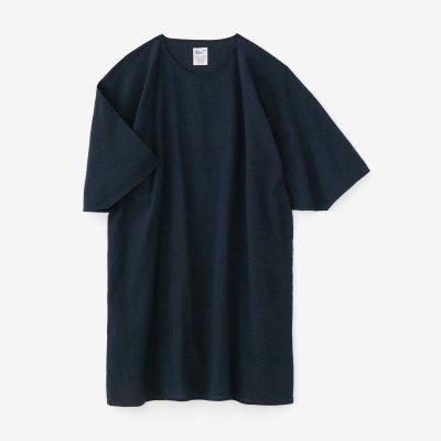 綿麻 高島縮 20/20 高島縮 薙刀長方形衣/濃紺(のうこん)