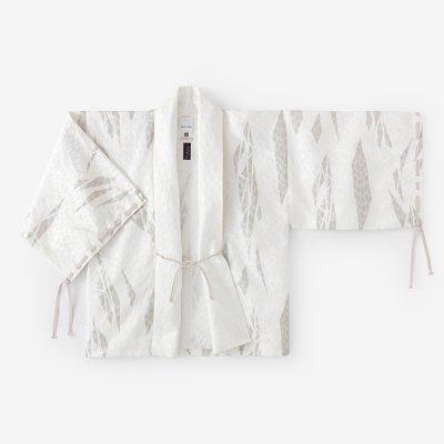 ジャカール 宮中袖 短衣 単(きゅうちゅうそで たんい ひとえ)/薄氷破 白銀斑(うすらびは はくぎんまだら)