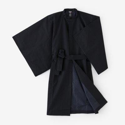 撥水綾織 円領外套(はっすいあやおり えんりょうがいとう)/深紺(しんこん)