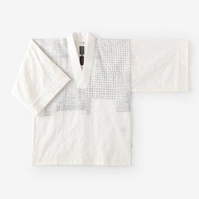 ジャカール 風靡 襯衣(ふうび しんい)首抜き文様/乳白 畑(にゅうはく はたけ)