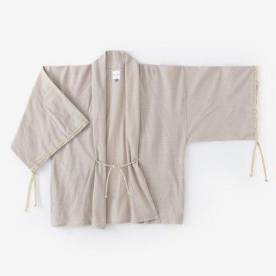 綿麻阿弥(めんあさあみ) 宮中袖 短衣 単/灰白色(かいはくしょく)