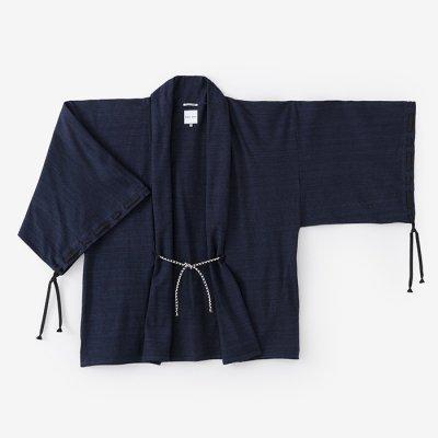 綿麻阿弥(めんあさあみ) 宮中袖 短衣 単/濃紺(のうこん)