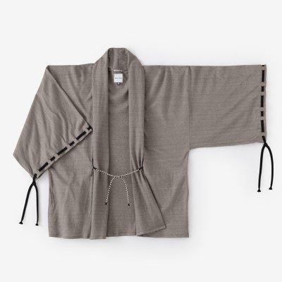 麻鹿の子編(あさ かのこあみ) 宮中袖 短衣 単(きゅうちゅうそで たんい ひとえ)/老竹色(おいたけいろ)