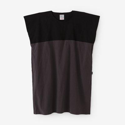 高島縮 20/20 長方形衣 組/濡羽色×濃灰(ぬれば×こいはい)