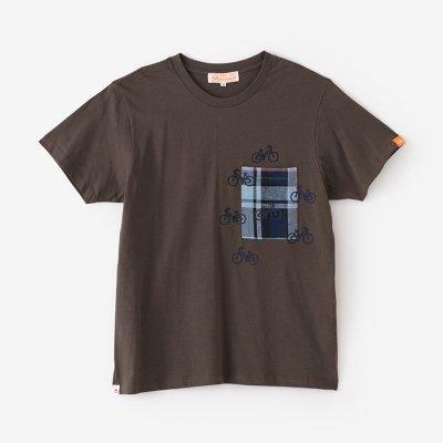 半袖 ポケットTシャツ/鉛色(なまりいろ)×チャリンチャリン