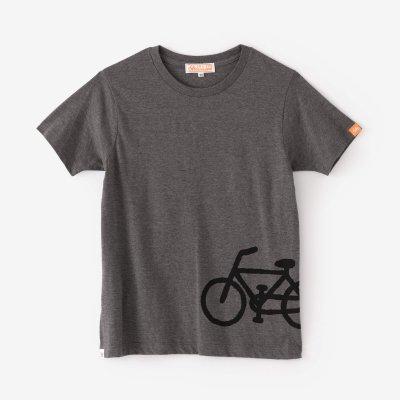【net限定】チャリンコ 半袖Tシャツ2/杢墨(もくずみ)