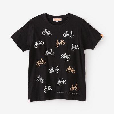 チャリンチャリン 三味 半袖Tシャツ/濡羽色(ぬればいろ)