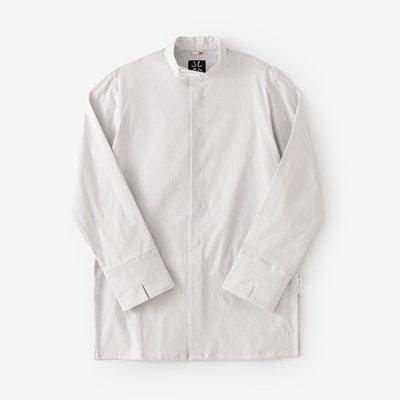 ドビー織 円領長襯衣(えんりょうながしんい)/つくも