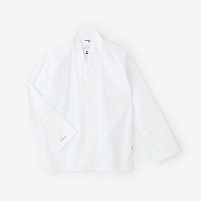 綿麻シャンブレー織 筒袖襯衣/つくも