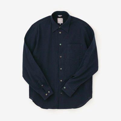 高島縮 20/20シャツ/留紺(とめこん)