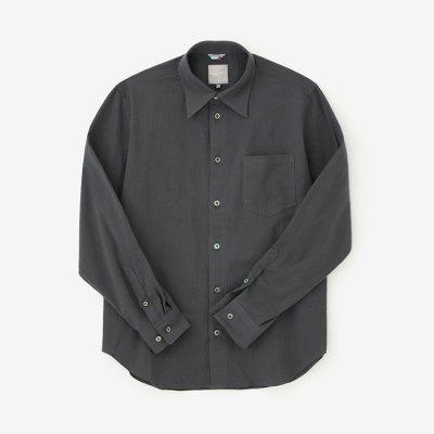 高島縮 20/20シャツ/濃鉛(こいなまり)