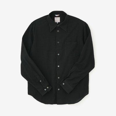 高島縮 20/20シャツ/濡羽色(ぬればいろ)