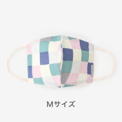 【予約】高島縮 テキスタイルマスク(Mサイズ)/日々(ひび)(※8月末発送予定)