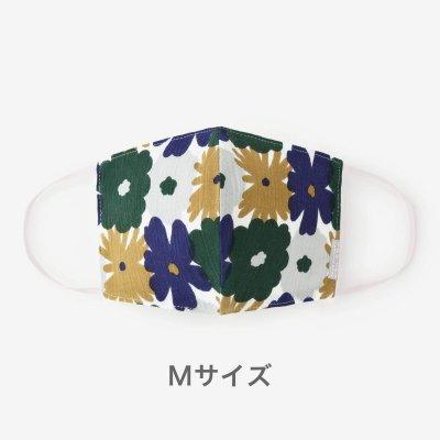 ◎高島縮 テキスタイルマスク(Mサイズ)/おおらかとりどり