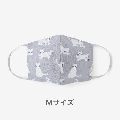 ◎高島縮 テキスタイルマスク(Mサイズ)/ねこ