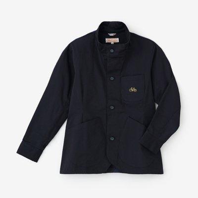 ストレッチツイル BIKEジャケット/深紺(しんこん)×MBP