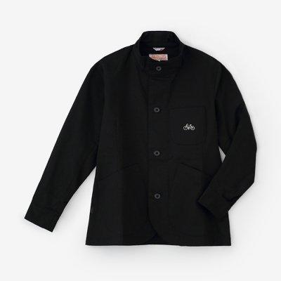 ストレッチツイル BIKEジャケット/濡羽色(ぬればいろ)×SO-SU-U