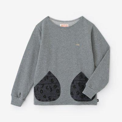 裏毛 ボートネックスウェットシャツ/素鼠(すねず)×SO-SU-U昆(こん) 上下(しょうか)