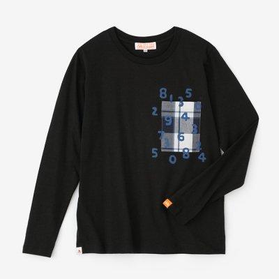 長袖 ポケットTシャツ/濡羽色(ぬればいろ)×SO-SU-U昆(こん)