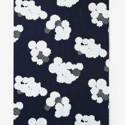 テキスタイル計り売り (21番手平織)/雲間に菊(くもまにきく)<50cm>