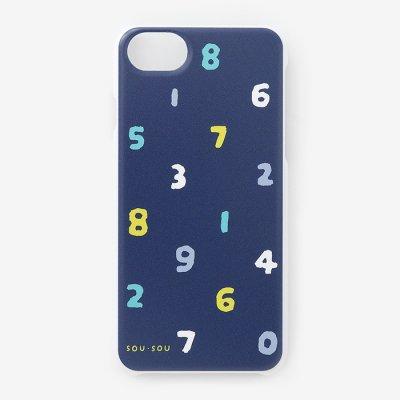 iPhone 6/6s/7/8/SE(第2世代) テキスタイルカバー/SO-SU-U 四味紺青(よつみこんじょう)