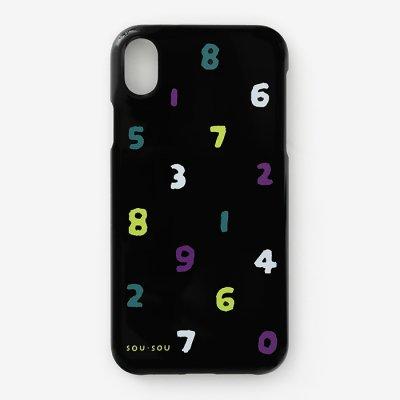 iPhone XR テキスタイルカバー/SO-SU-U 四味濡羽色(よつみぬればいろ)