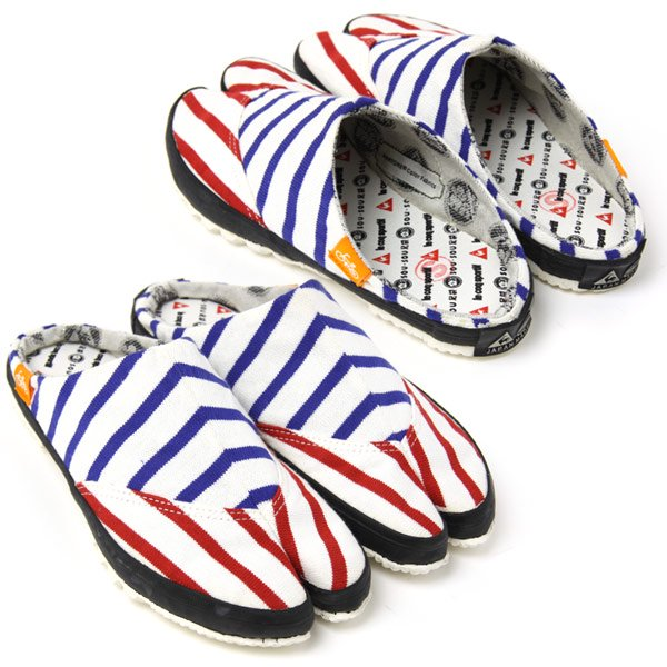 PANTONE 貼付つっかけ足袋 トリコロールパターン