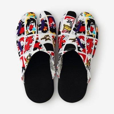 スリッパ足袋/さしこ 赤