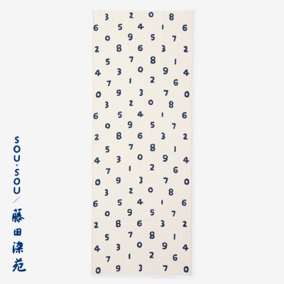 SOU・SOU×藤田染苑 藍捺染 手ぬぐい/SO-SU-U