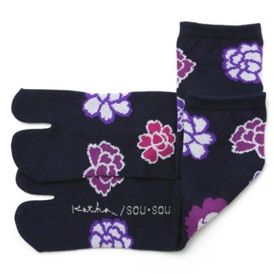 足袋下(普通丈)/牡丹 【女性用】