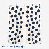 SOU・SOU×藤田染苑 藍捺染 手ぬぐいのれん2巾/すいぎょく