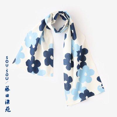 SOU・SOU×藤田染苑 藍捺染 くびまき/花がさね