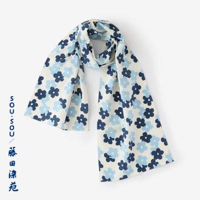 SOU・SOU×藤田染苑 藍捺染 くびまき/花がさね 小