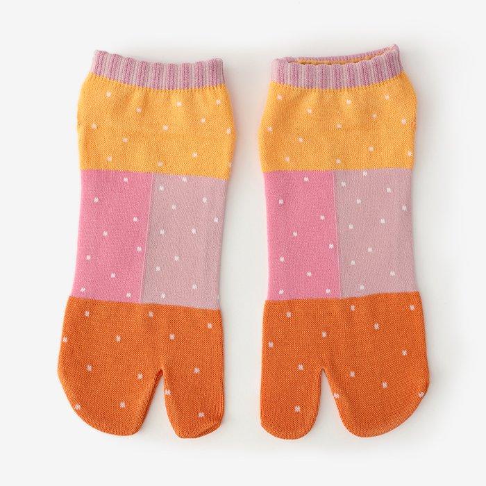 足袋下(踝丈)/和室(わしつ) 橙色(だいだいいろ) 【男・女性用】