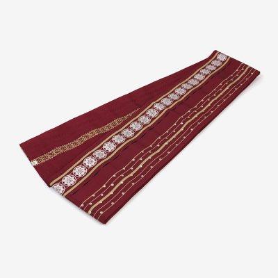 博多 半巾小袋帯/臙脂色(えんじいろ)