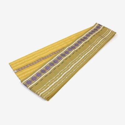 博多 半巾小袋帯/金黄土(こがねおうど)