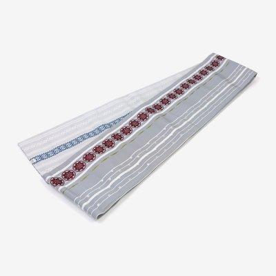 博多 半巾小袋帯/銀鼠(ぎんねず)