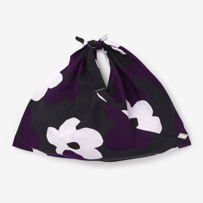 伊勢木綿 小巾折/花がさね 黒紫(くろむらさき)