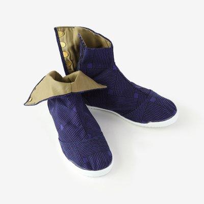 先丸5枚足袋/かごめ編み 正紺(しょうこん)
