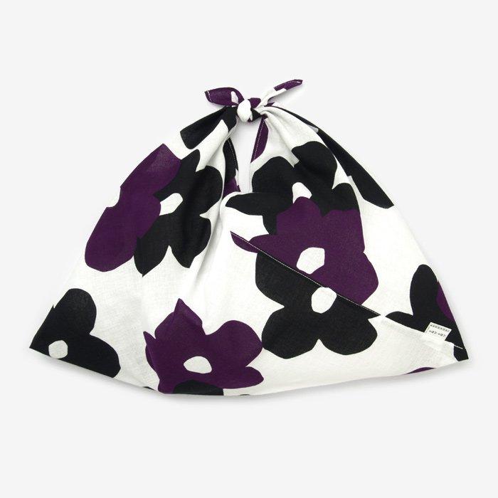 伊勢木綿 小巾折/花がさね 白紫(しろむらさき)