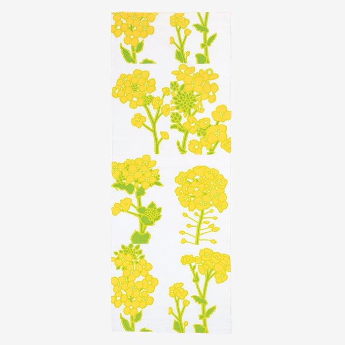 伊勢木綿 手ぬぐい/菜の花