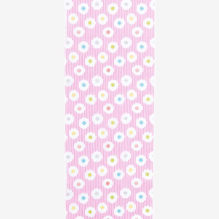 テキスタイル計り売り (伊勢木綿:特岡)/白菊 撫子色(しらぎく なでしこいろ)<50cm>