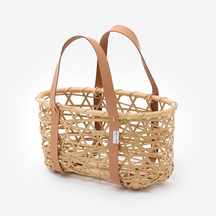 風呂敷用竹籠 やたら編み